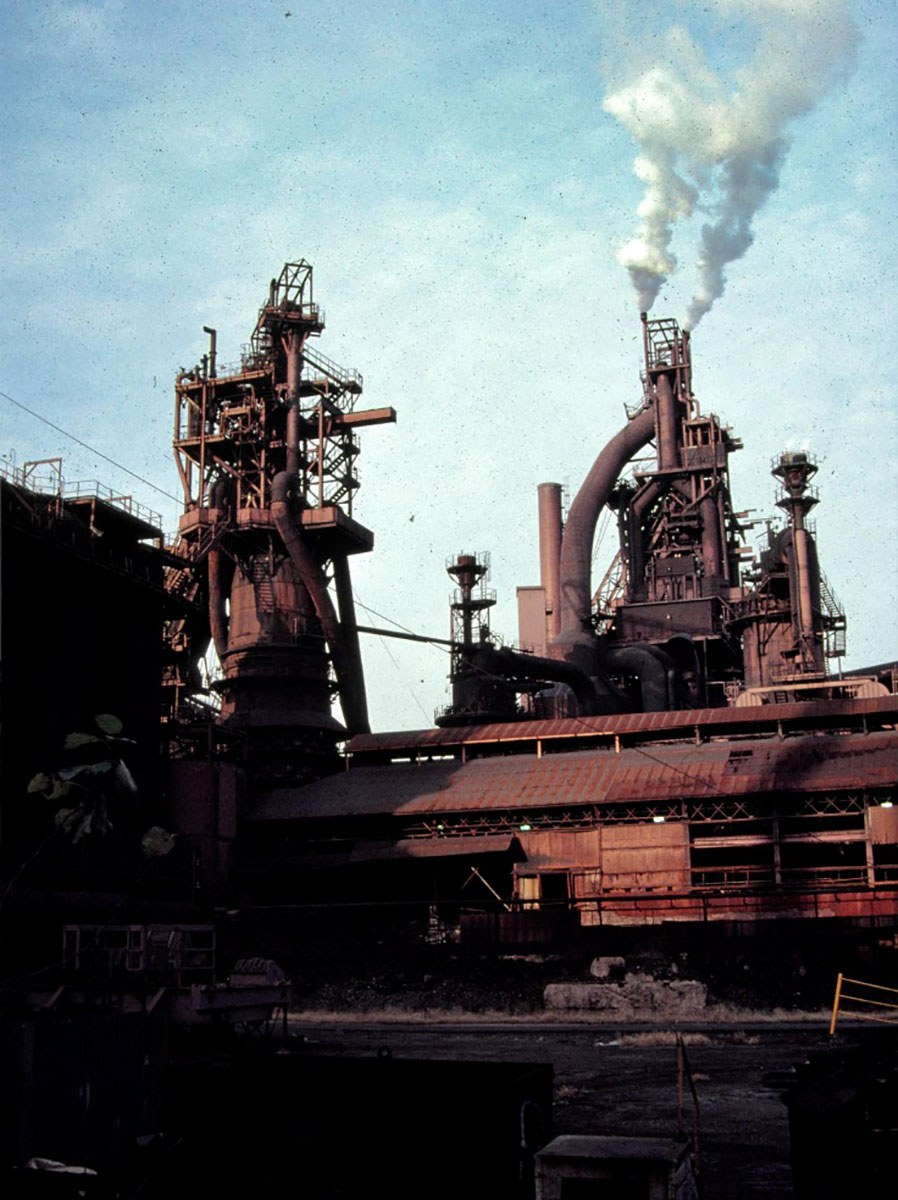 Stelco blast furnace in Hamilton, 1987.