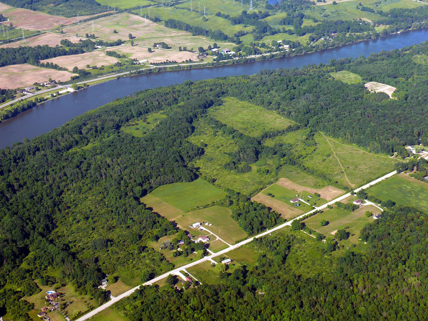 Aerial view of Grand River. Photo: Ann and Peter Macdonald