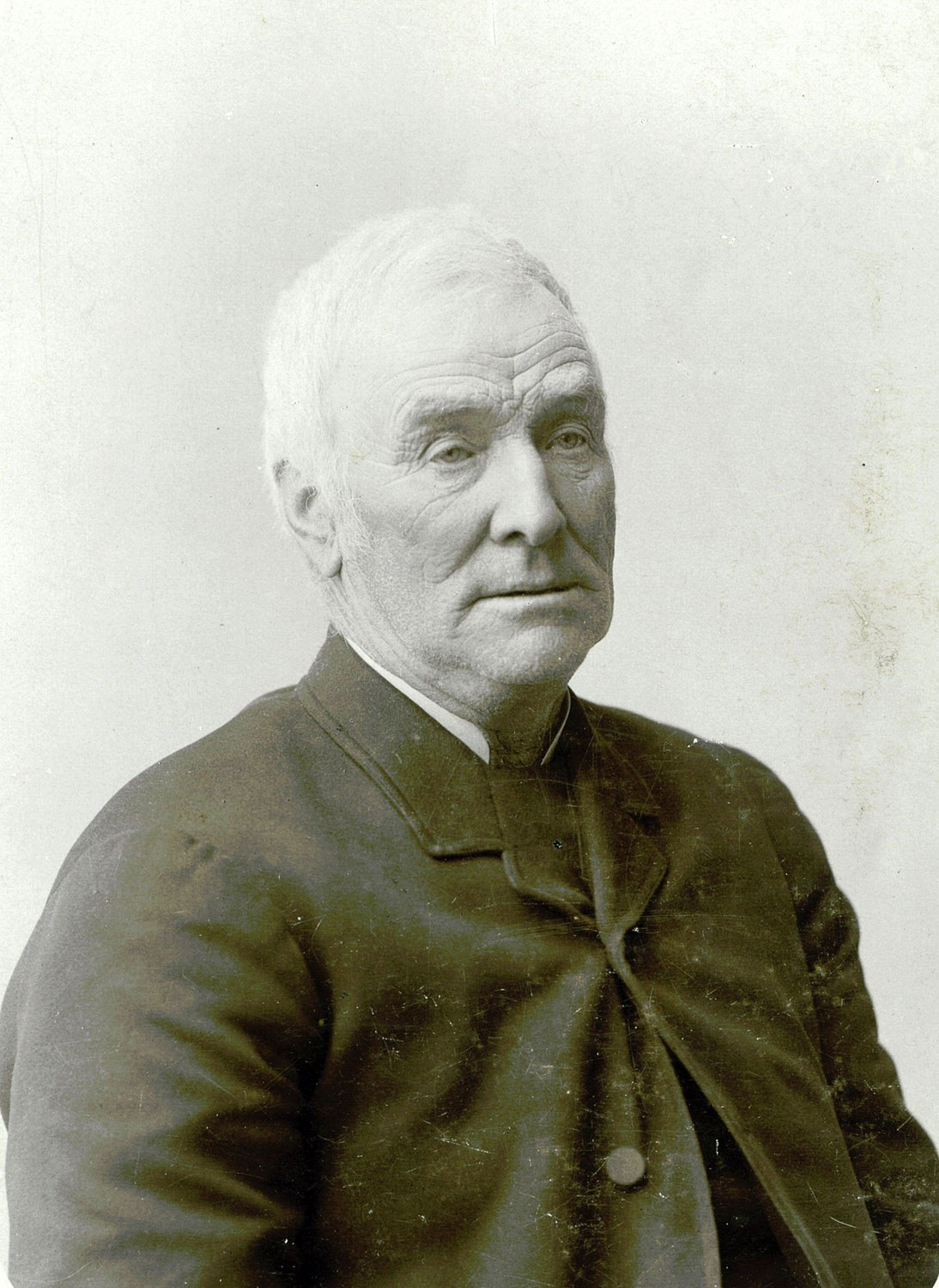 Scottish immigrant John Miller (1817-1904) settled Thistle Ha' farm in 1839. Photo taken circa 1883. (Reproduced with permission from the Thistle Ha' private collection.)