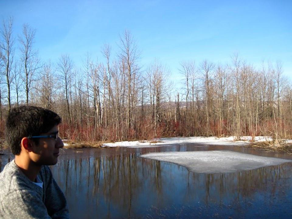 Muhammad Qureshi on a pond (Photo courtesy of Muhammad Qureshi)
