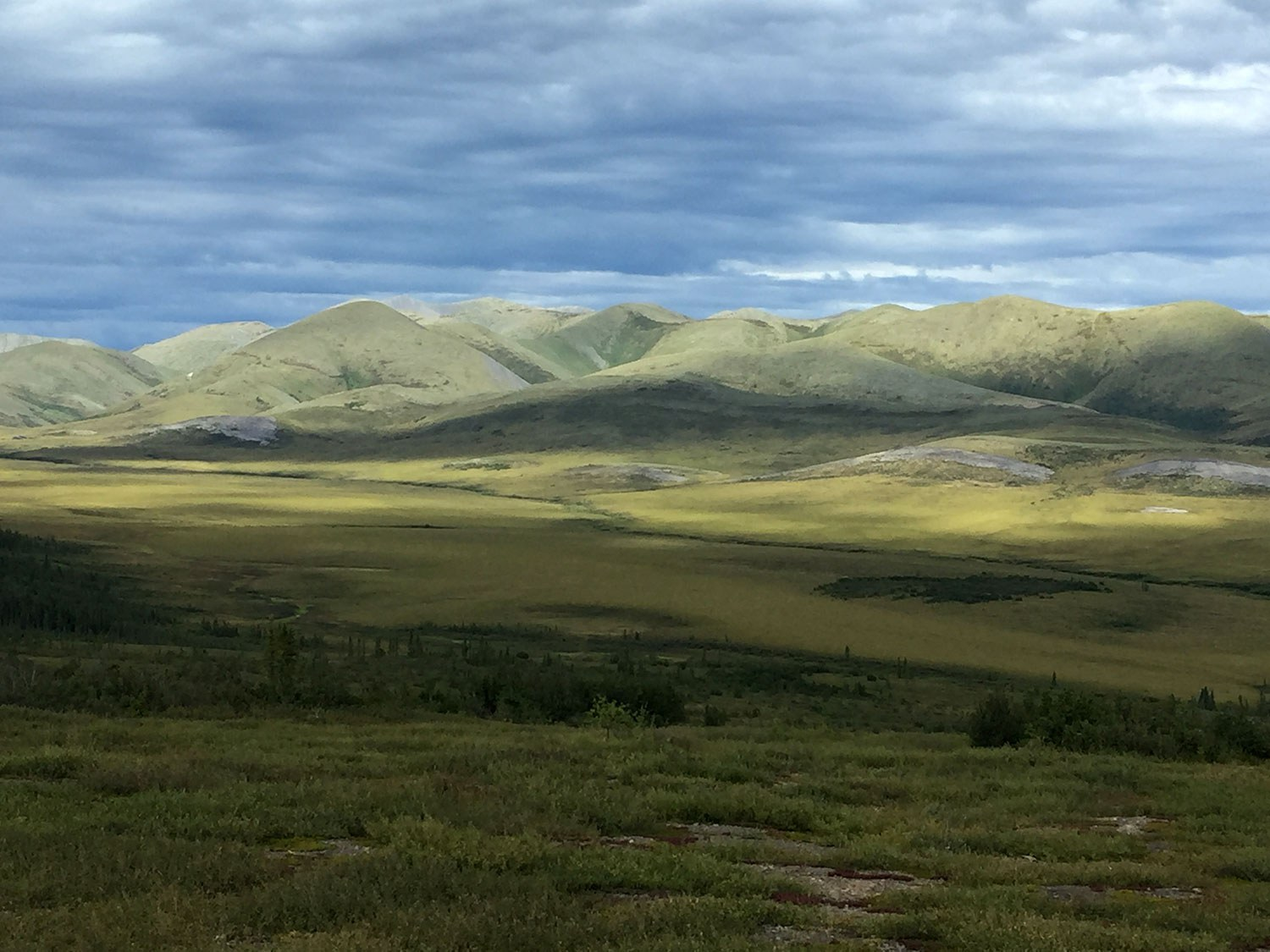 View of Richardson Mountains in the Northwest Territories